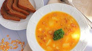 Любимые Рецепты.  Гороховый суп с копченостями.