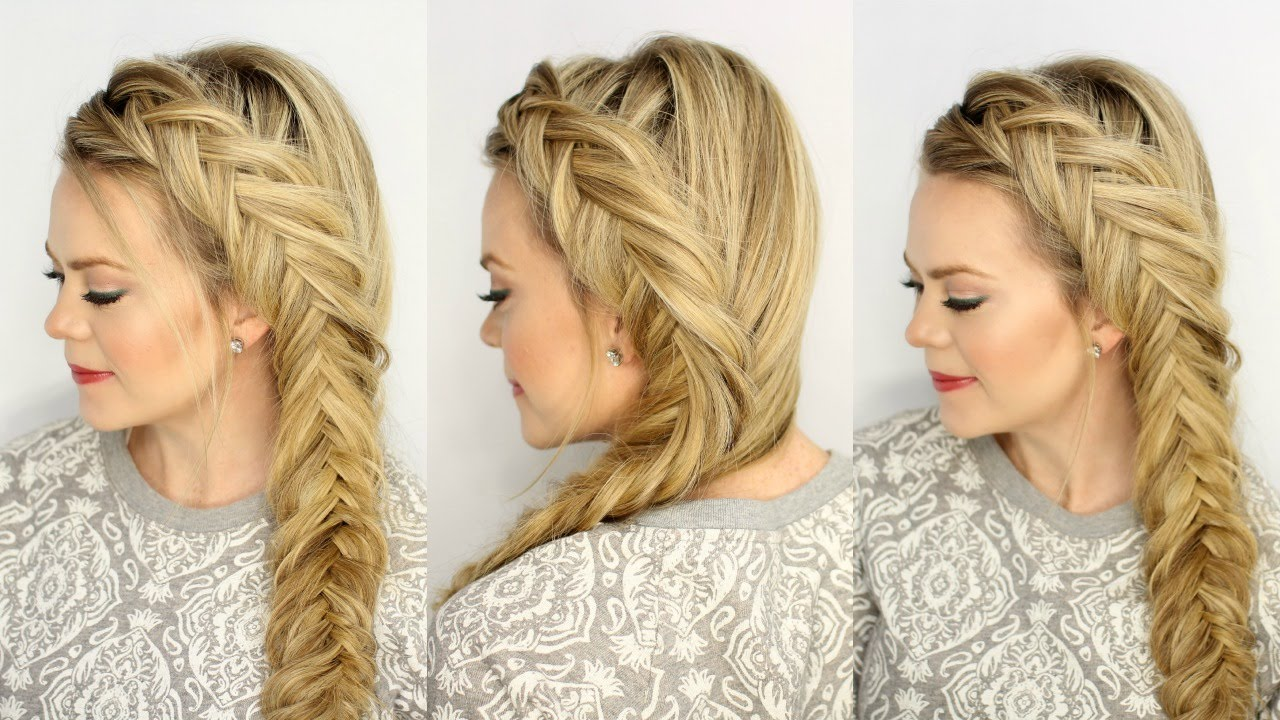 Dutch Fishtail Braid | Missy Sue - YouTube