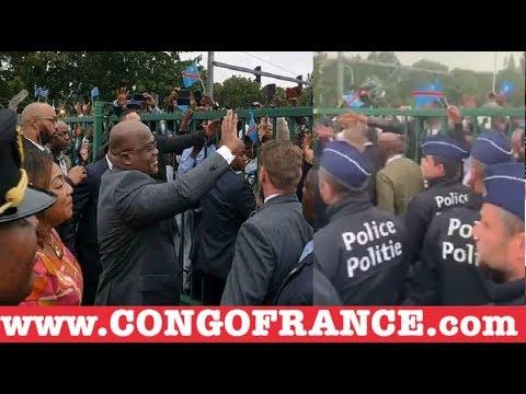 L'arrivée FÉLIX TSHISEKEDI à Bruxelles, Belgique,  Plein à gravé 4 COMBATTANTS ARRÊTÉS par La POLICE