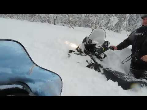 Lynx Yeti Pro 550 по глубокому снегу ч.2.