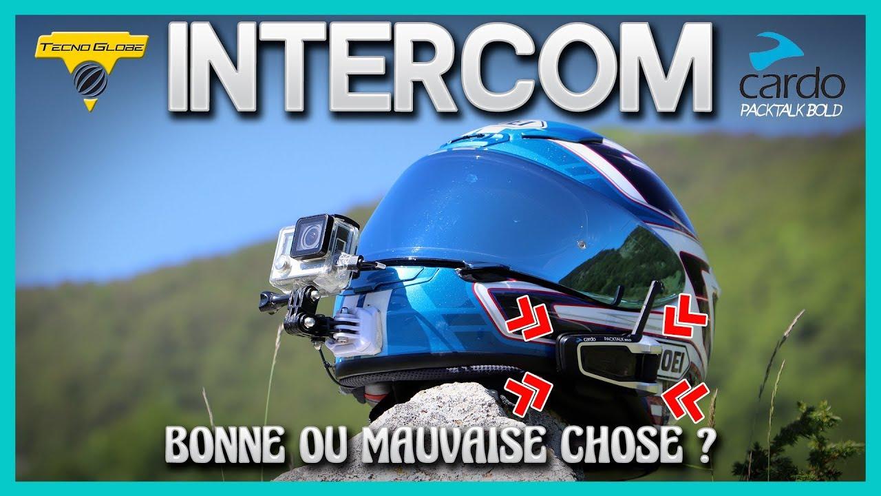 Lot de 1 Boblov V6 Pro 1200M Moto Interphone sans Fil Intercom Blue-Tooth Casque Interphone Imperm/éable IP65 Appel Musique Haut-Parleur Micro