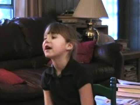 My Grand daughter sings a song