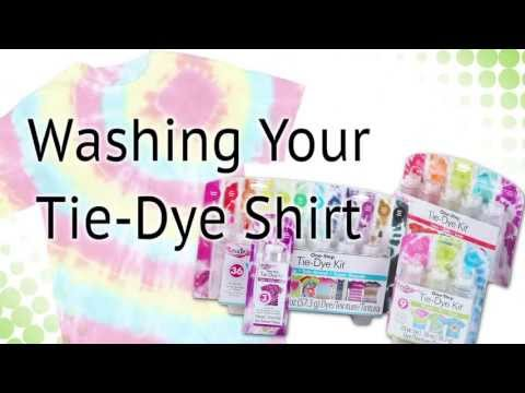 Best way to rinse out tie dye shirts