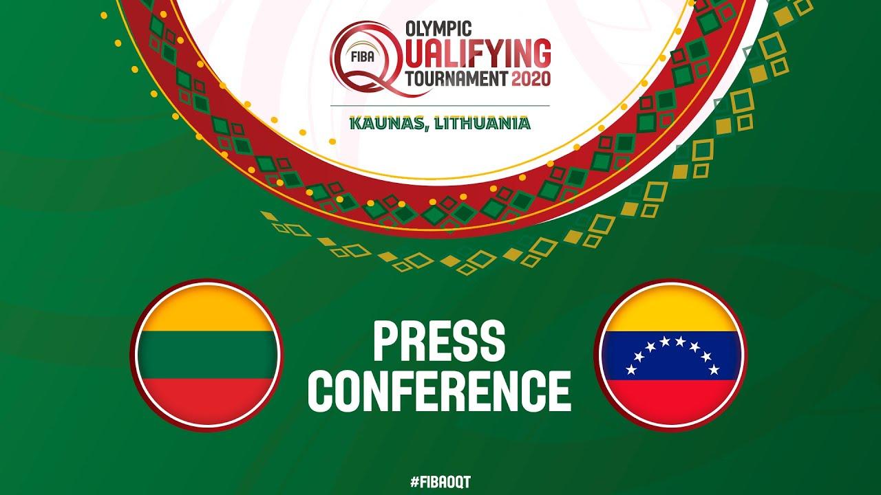Lithuania v Venezuela - Press Conference