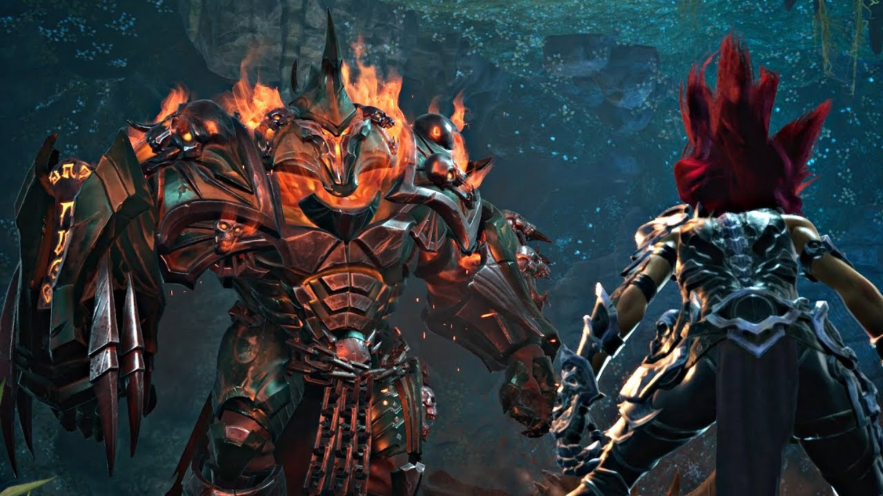 Darksiders 3 - Wrath Boss Fight & Flame Hollow ...