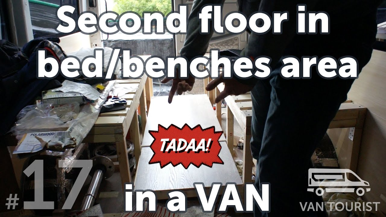Building Second Floor In Bed Area For Raising And Storage Diy Van Conversion To Motorhome Project
