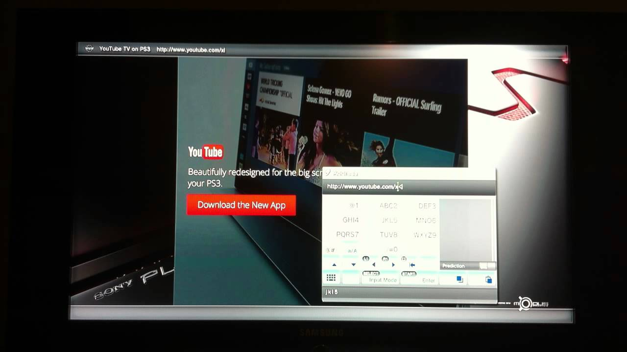 How to get Youtube back on PS3 browser - *NO APP*