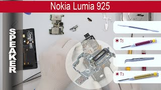 How to replace 🔧 📱 📢  Loud speaker (ear speaker) Nokia Lumia 925 (rm-892, rm-893, rm-910)(, 2015-05-26T02:03:43.000Z)