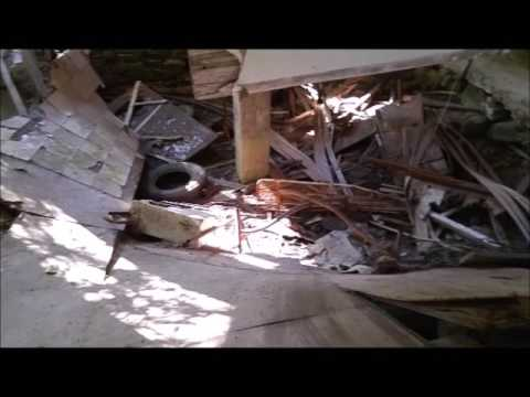 abandoned house with caved floor