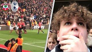 Southampton 2-1 Tottenham! Away Premier League Match Day Vlog! Harry Kane 1-0 and we f***** it up!