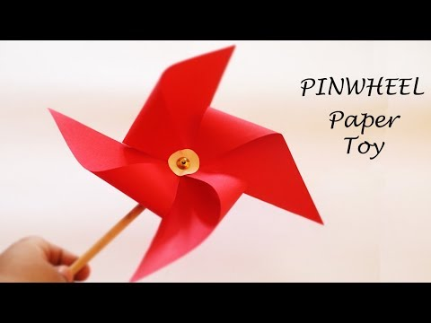 How to Make Paper Pinwheel / Paper Windmill | DIY Paper Toys for  Kids