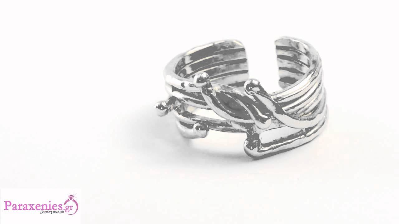 b3e2fbc5db Ασημένια Κοσμήματα - Δαχτυλίδια Ασημένιο Χειροποίητο - YouTube