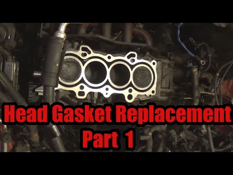 Head Gasket Replacement Part 1 2003 Honda Civic - YouTube