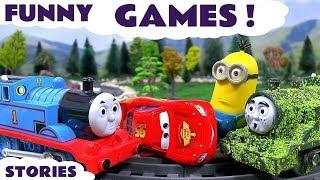 Thomas & Friends Minions Funny Pranks Cars Play Doh Tom Moss Toy Train Tayo Prank 꼬마버스 타요