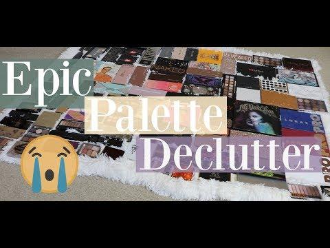Eyeshadow Palette Declutter 2017