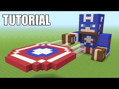 Minecraft Tutorial: How To Make A Captain America (Civil War)!! Survival House (ASH#46)