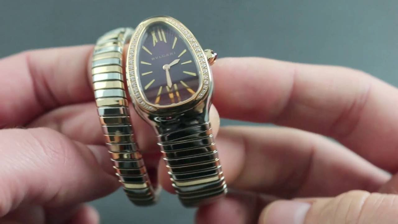 fee07d4d7d6 Bulgari Serpenti Tubogas SP35C75PGDSPGD 1T Showcase Review - YouTube