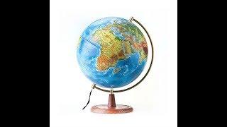 """Обзор глобуса рельефного с подсветкой 32 см """"Глобен"""""""