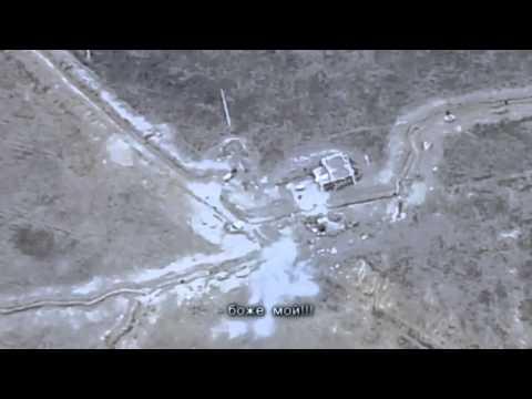 Армянский беспилотник записывает минометный обстрел Азербайджанских позиций