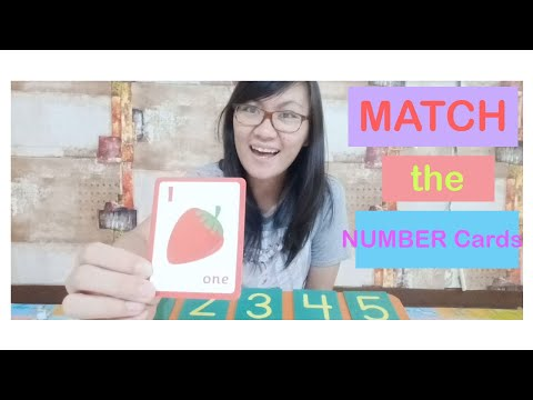 Learn To Match The Number Cards - Mari Mencocokkan Kartu Angka (1-5)