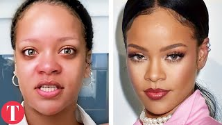 20 Celebrities Who Look Totally Different Underneath Makeup