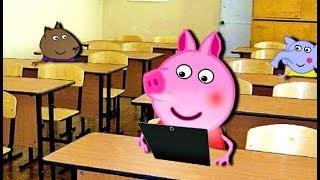 Мультики Свинка  Петта принесла в школу Планшет Мультфильмы для детей на русском