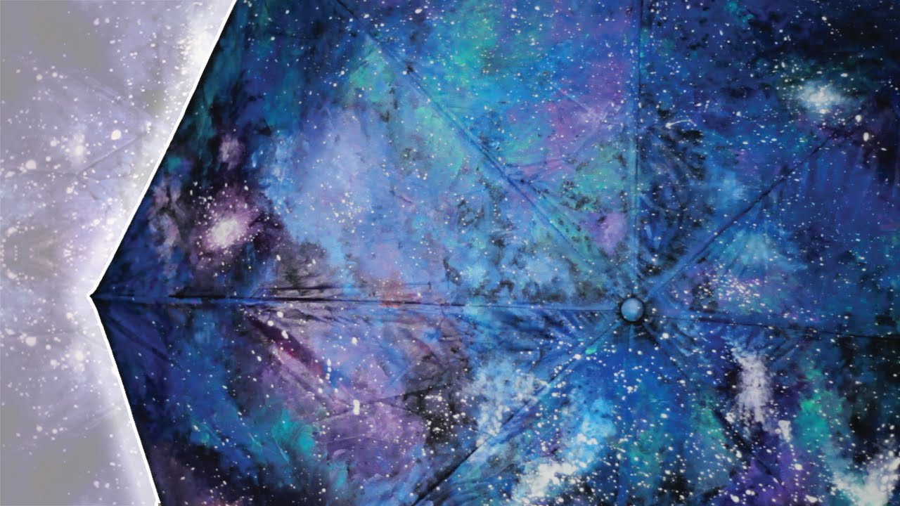 Diy galaxy umbrella how to paint your own galaxy youtube for How to paint galaxy