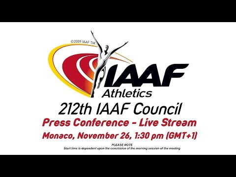 212th IAAF Council - Press conference
