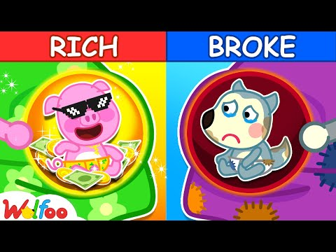 Rich vs Broke Kids - the Pregnancy Diary of Wolfoo - Kids Stories About Baby | Wolfoo Family