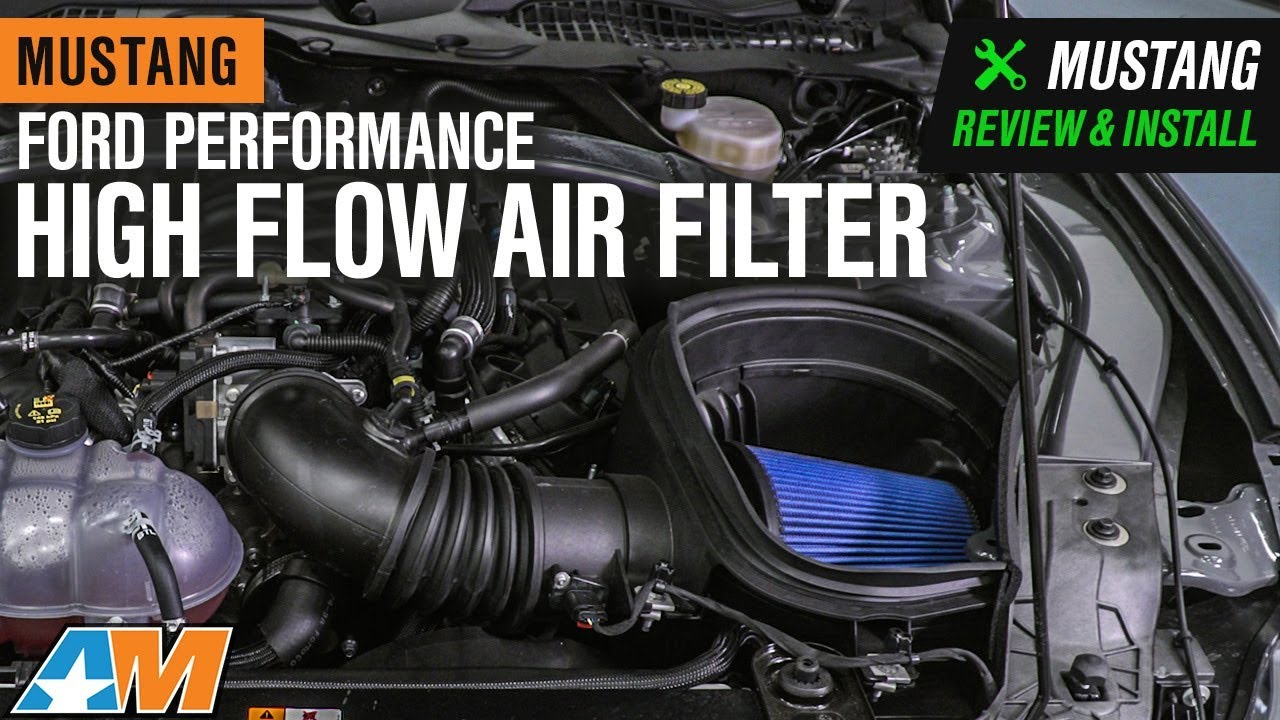 ford performance mustang high flow air filter m 9601 g 10 14 gt500 15 19 gt350  [ 1280 x 720 Pixel ]