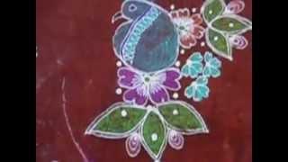 Beautiful Indian Rangoli design - Art Of Rangoli Painting!