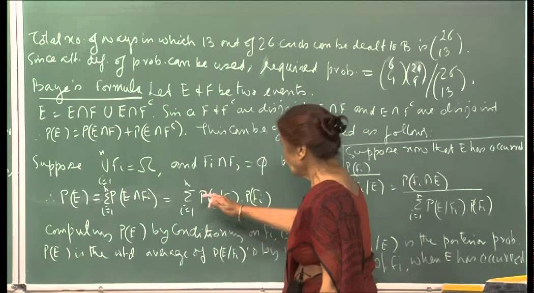 Mod-01 Lec-03 Conditional probability, Independence of events.