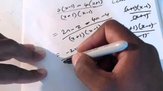 CSEC CXC Maths: How To Simplify Fractional Algebraic Expressions Lesson 2 CSEC CXC Maths