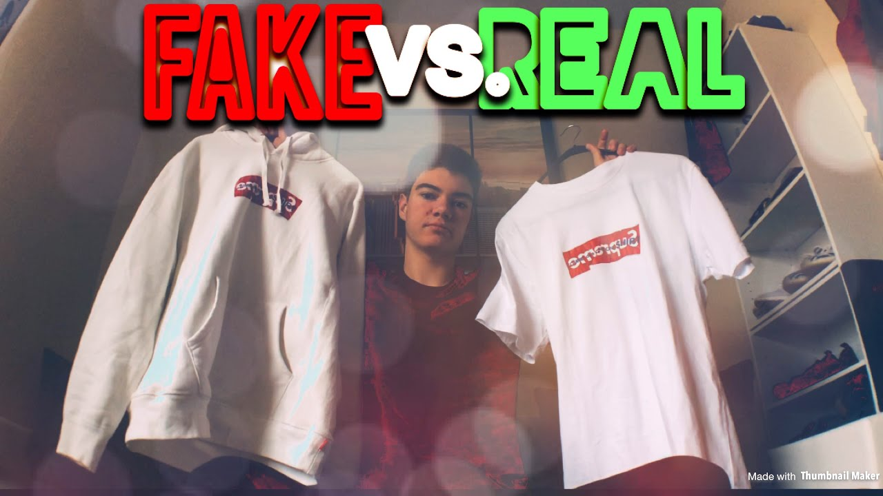 Supreme X CDG Box Logo Fake Vs  Real | Legit Check ✅ - YouTube