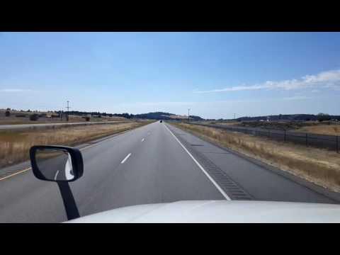 Bigrigtravels Live! Spokane to Ritzville, Washington Interstate 90 August 29, 2016