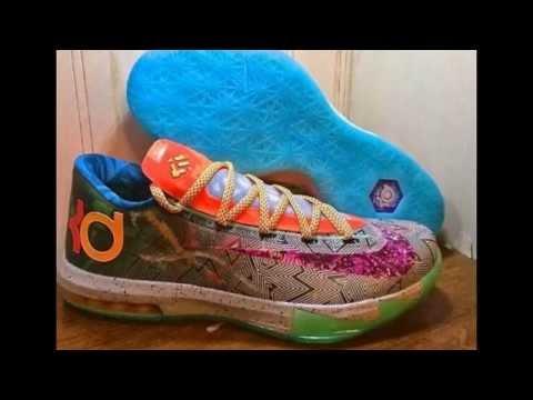 Hoop Purple Urgent Orange-Shark Nike KD 6 Kevin Durant VI What The ... ee65d93bb8