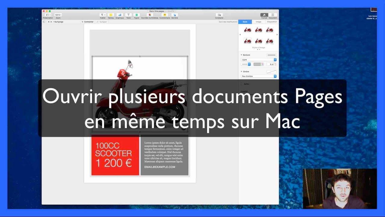 Ouvrir 2 documents Pages en même temps sur Mac