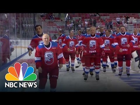 Watch: Russian President Vladimir Putin Falls On The Ice At Hockey Game | NBC News