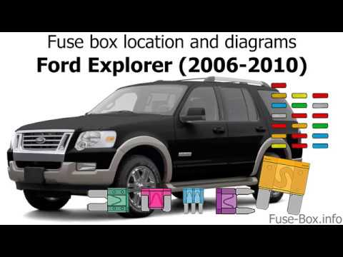 Fuse box location and diagrams Ford Explorer (2006-2010) - YouTube