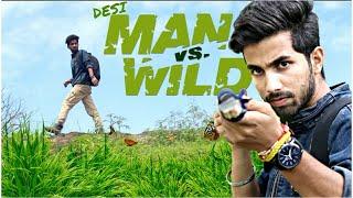 MAN VS WILD || BEAR CHILLED || FUNNY VIDEO || KANGRA BOYS