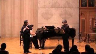 Philippe Gaubert : Divertissement Grec pour Deux  Flûtes avec Accompagnement de Piano