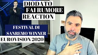 DIODATO - FAI RUMORE (REACTION): Festival di Sanremo winner and  Eurovision 2020 contestant