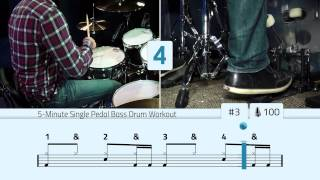 5-Minute Single Pedal Bass Drum Workout(The Ulimate Online Drum Lessons Experience: - http://Drumeo.com Click Here For The Sheet Music: - http://drumeo.com/blog/5-minute-bass-drum-workout/ ..., 2014-01-25T18:15:31.000Z)