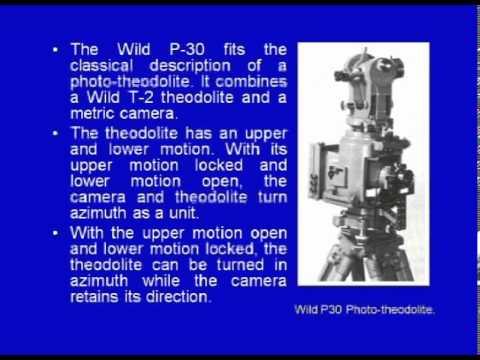 Mod-01 Lec-22 Terrestrial Photogrammetry