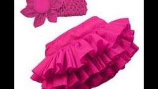 how to make cute baby rufful skirt