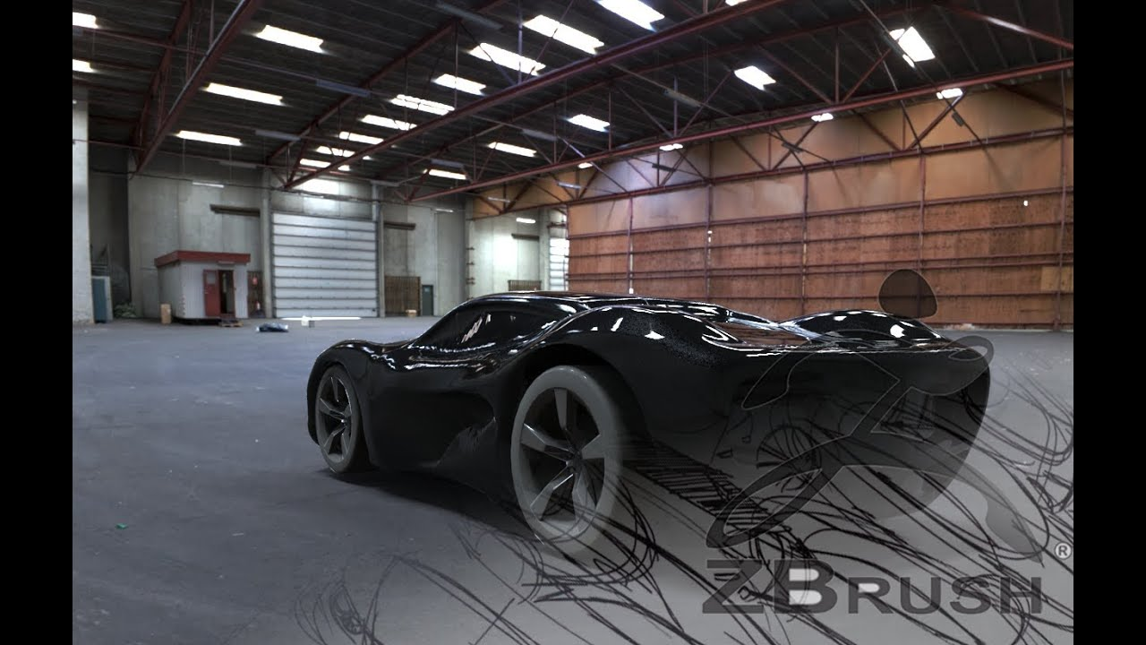 ZBrush-Car Modeling, realistic rendering with keyshot ...