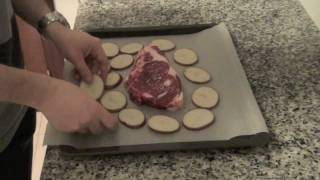 Baked Beef Steak With Potatoes And Green Mojo Sauce - Recipes From Spain