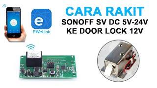 Door Lock Selenoid Plus Sonoff DC 5v-24V