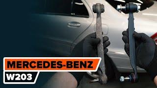 Cómo cambiar los bieletas de suspensión parte trasera en MERCEDES-BENZ W203 Clase C [AUTODOC]