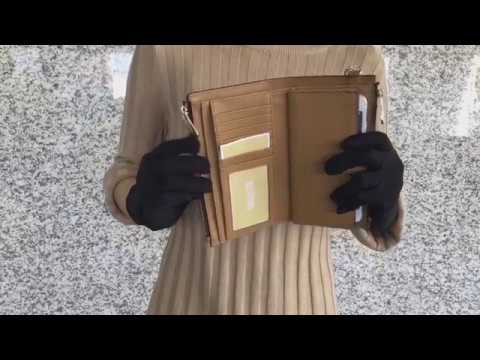 5cc43d6eeb77 Michael Kors Jet Set Travel double Zip Wristlet Brown/Acorn - YouTube